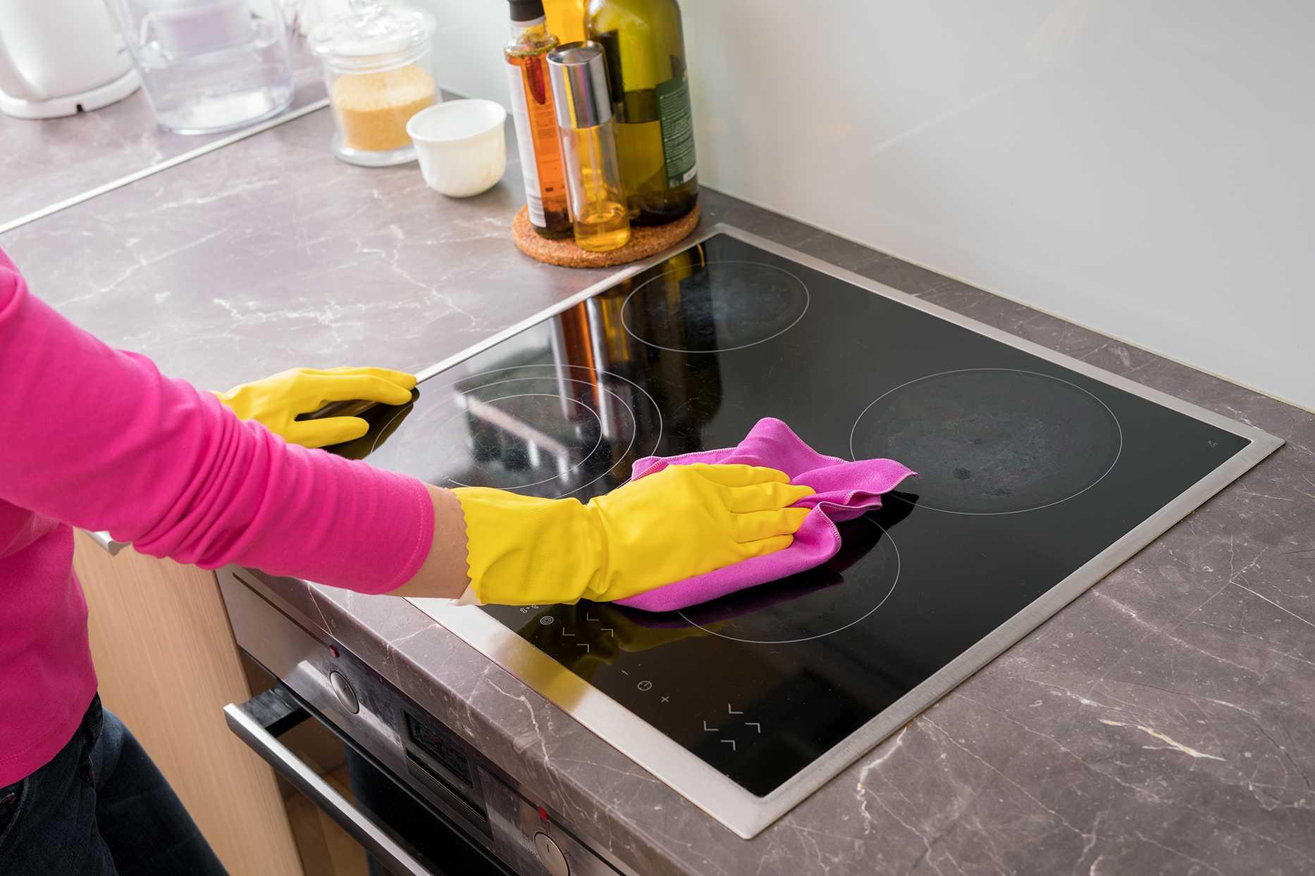 Чем и как отмыть стеклокерамическую плиту? как очистить стеклокерамическую плиту от нагара, жира и других загрязнений?