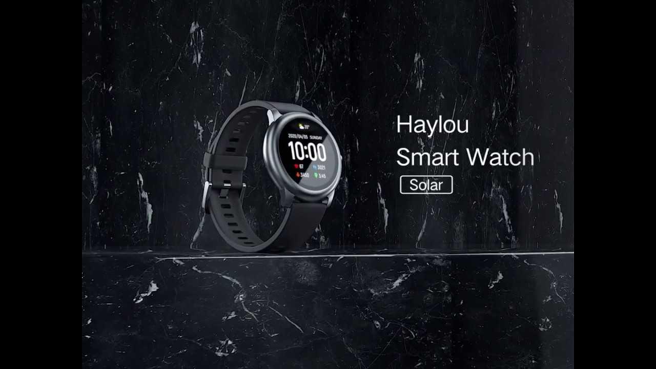 Смарт-часы xiaomi haylou solar ls05 с автономностью до 30 дней