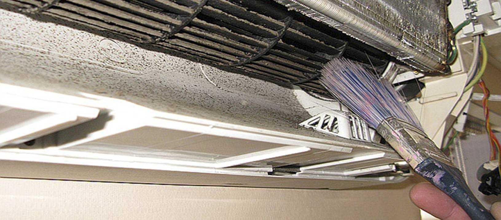 Как почистить кондиционер: внутренний и внешний блок, чем надо чистить