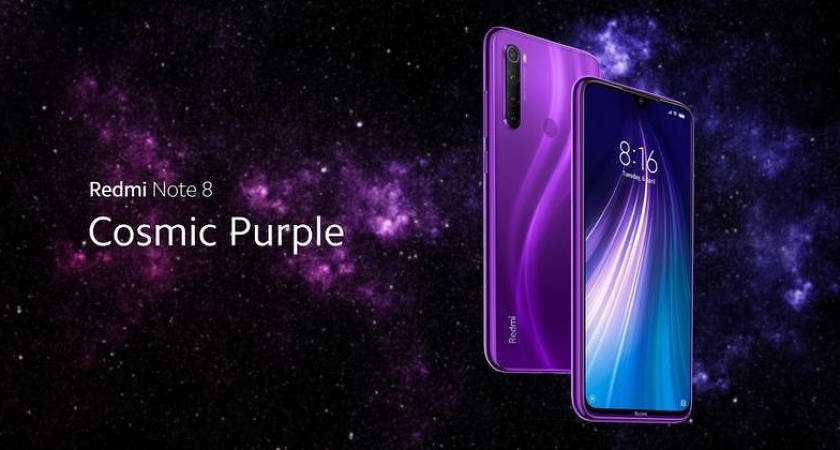 В Китае состоялась презентация еще одной расцветки смартфона Redmi Note 8 На этот раз производитель решил удивить поклонников своего бренда цветом Cosmic Purple Речь