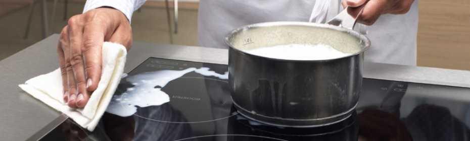 Как отмыть плиту из стеклокерамики?