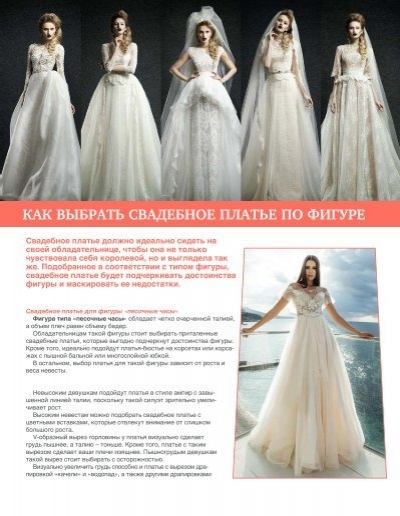 Как выбрать свадебное платье по типу фигуры - советы по выбору