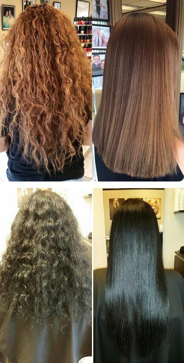 Современные методы выпрямления волос