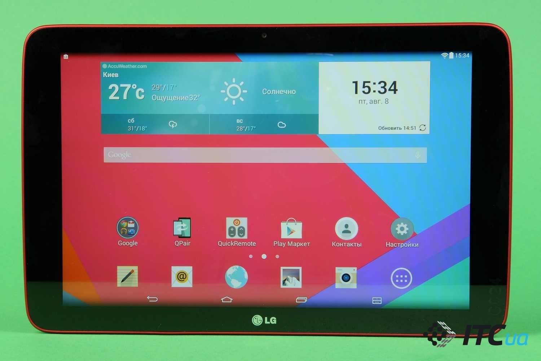 Основные характеристики планшета lg g pad 5 10.1, достоинства и недостатки новинки
