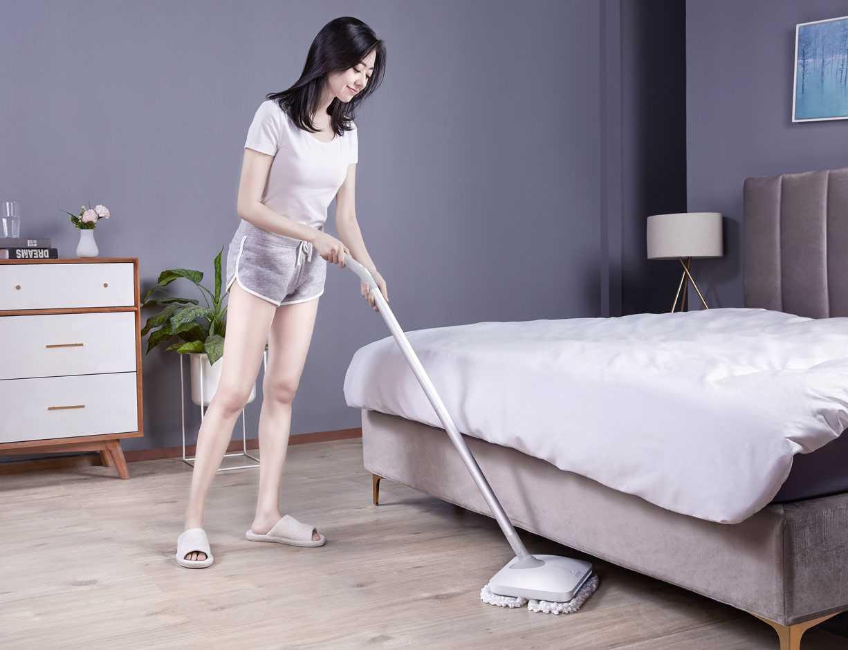 Беспроводная электрошвабра xiaomi mijia wireless electric mop white (wxcdj01swdk)