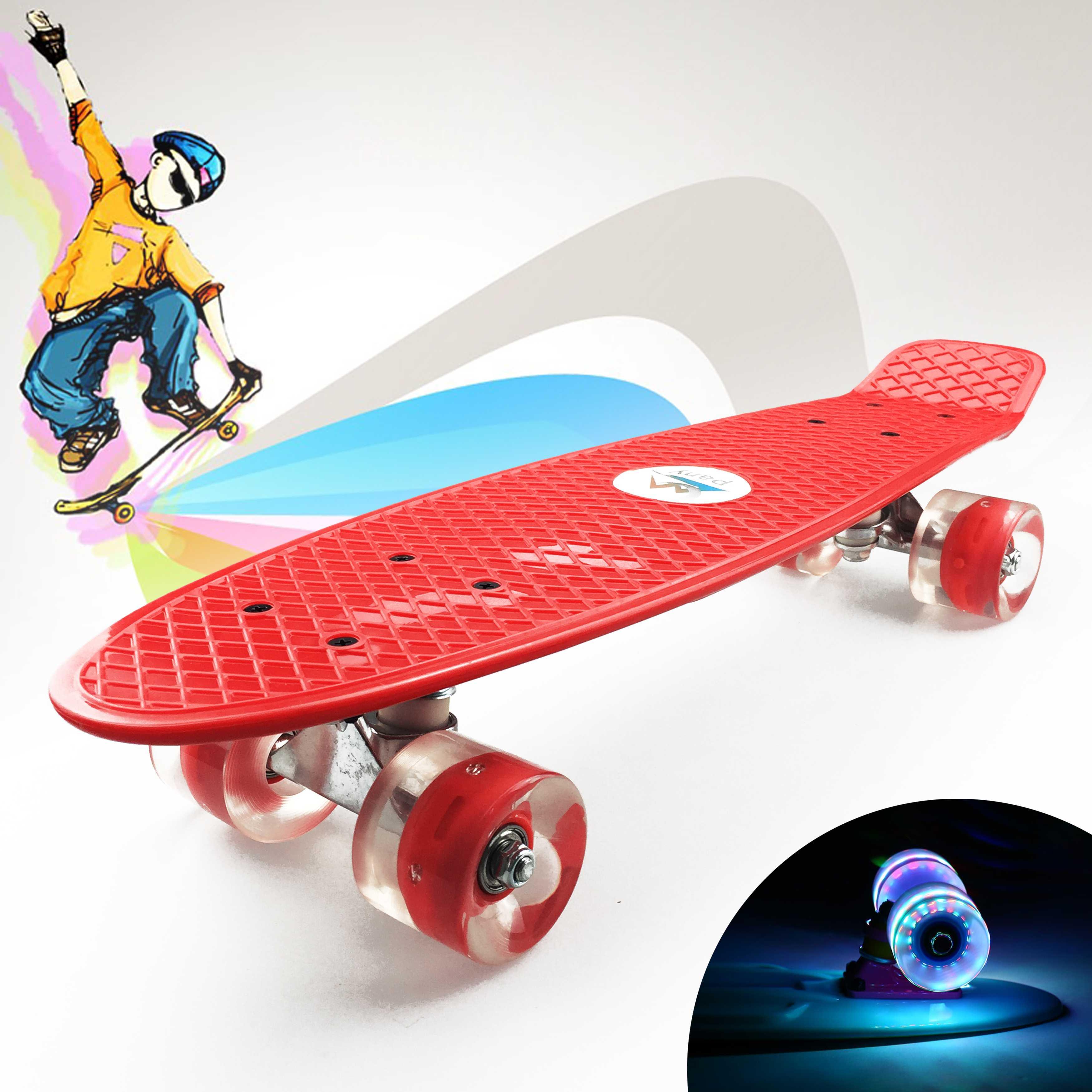 Скейтборд для детей: какой выбрать светящийся скейтборд для начинающего и занятия для того, чтобы научиться кататься на нем девочке