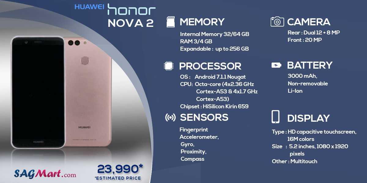 Обзор и технические характеристики huawei nova 8 se