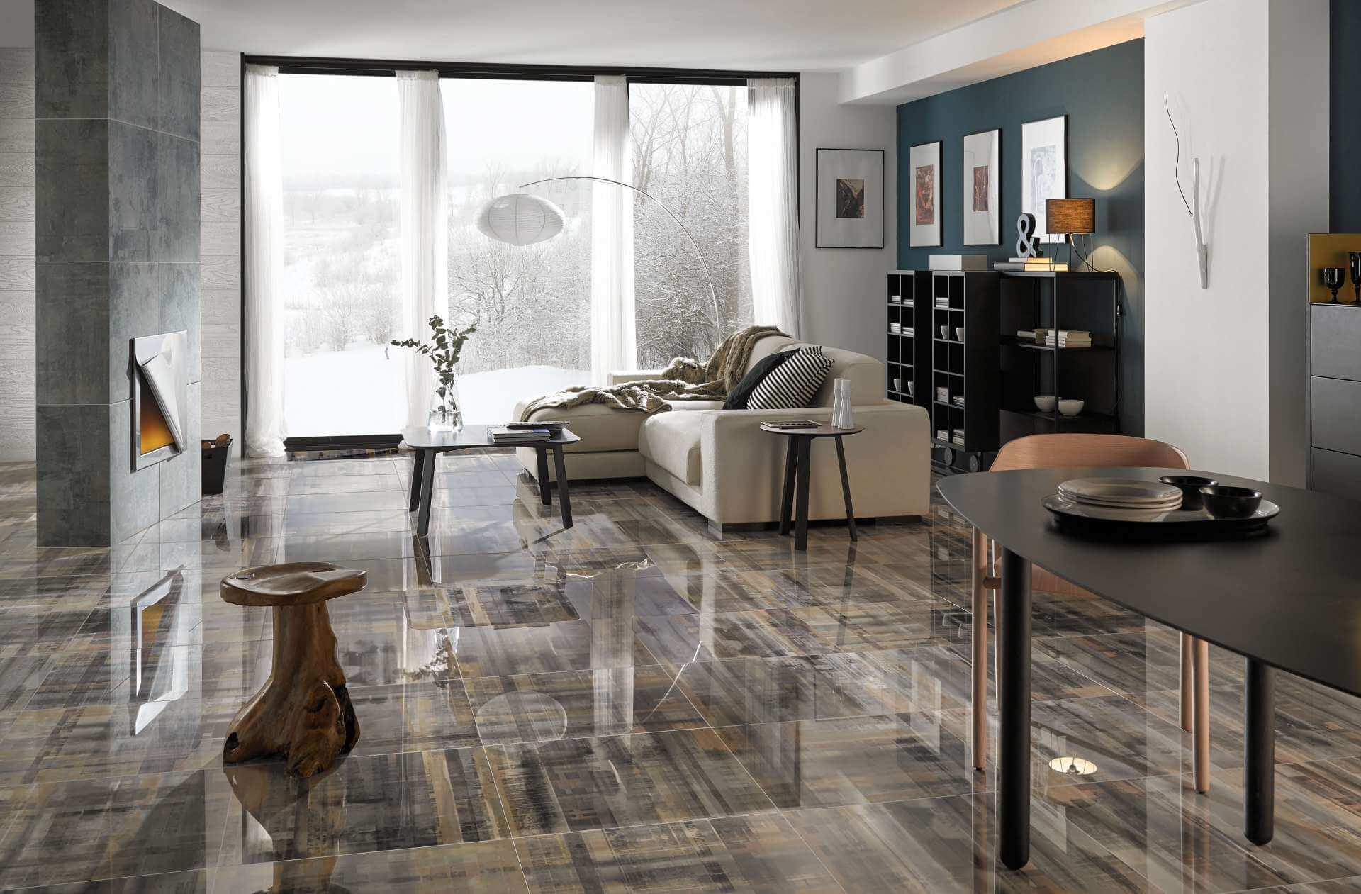 Плитка в гостиной на полу (46 фото): как выбрать напольную керамическую плитку в зал, красивые решения в дизайне интерьера