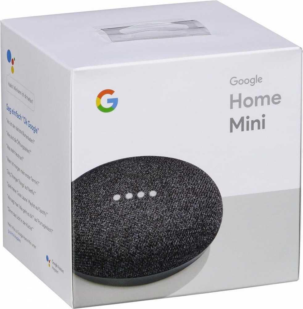 Распаковка и настройка google home mini