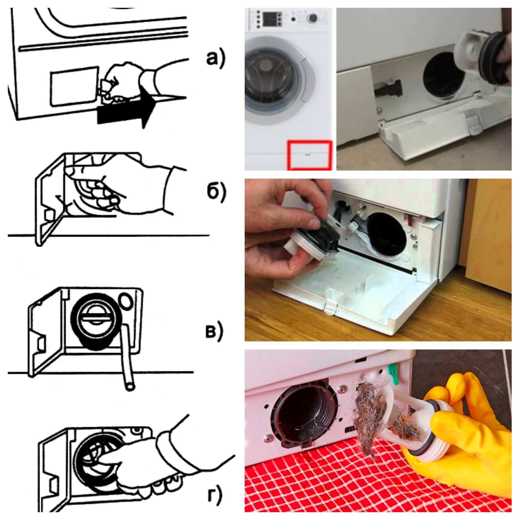 Как почистить фильтр в стиральной машине? зачем нужна чистка сливного фильтра? где он находится и как его вытащить? как открыть и прочистить?