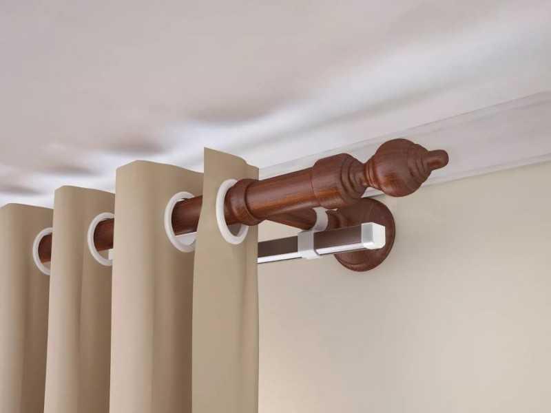 Карнизы для штор под натяжные потолки: какие лучше выбрать