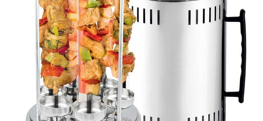 Электрошашлычница – прибор позволяющий готовить шашлык в домашних условиях на базе ТЭНа Жар от нагревательного элемента проникает внутрь пищи в результате чего мясо