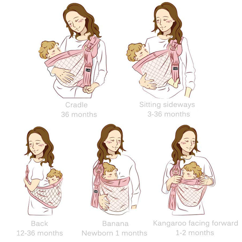 Слинг для новорожденных от 0 до 6 месяцев