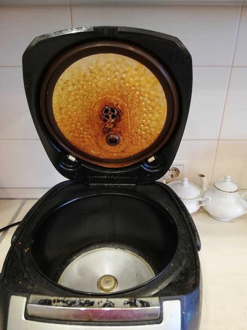 Как отмыть мультиварку внутри от жира и убрать запах