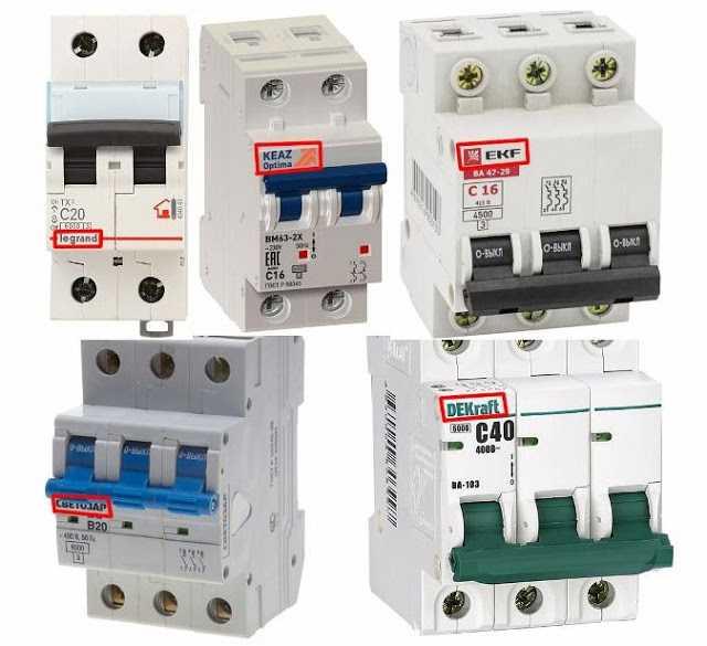 Характеристики автоматических выключателей, какой бренд выбрать
