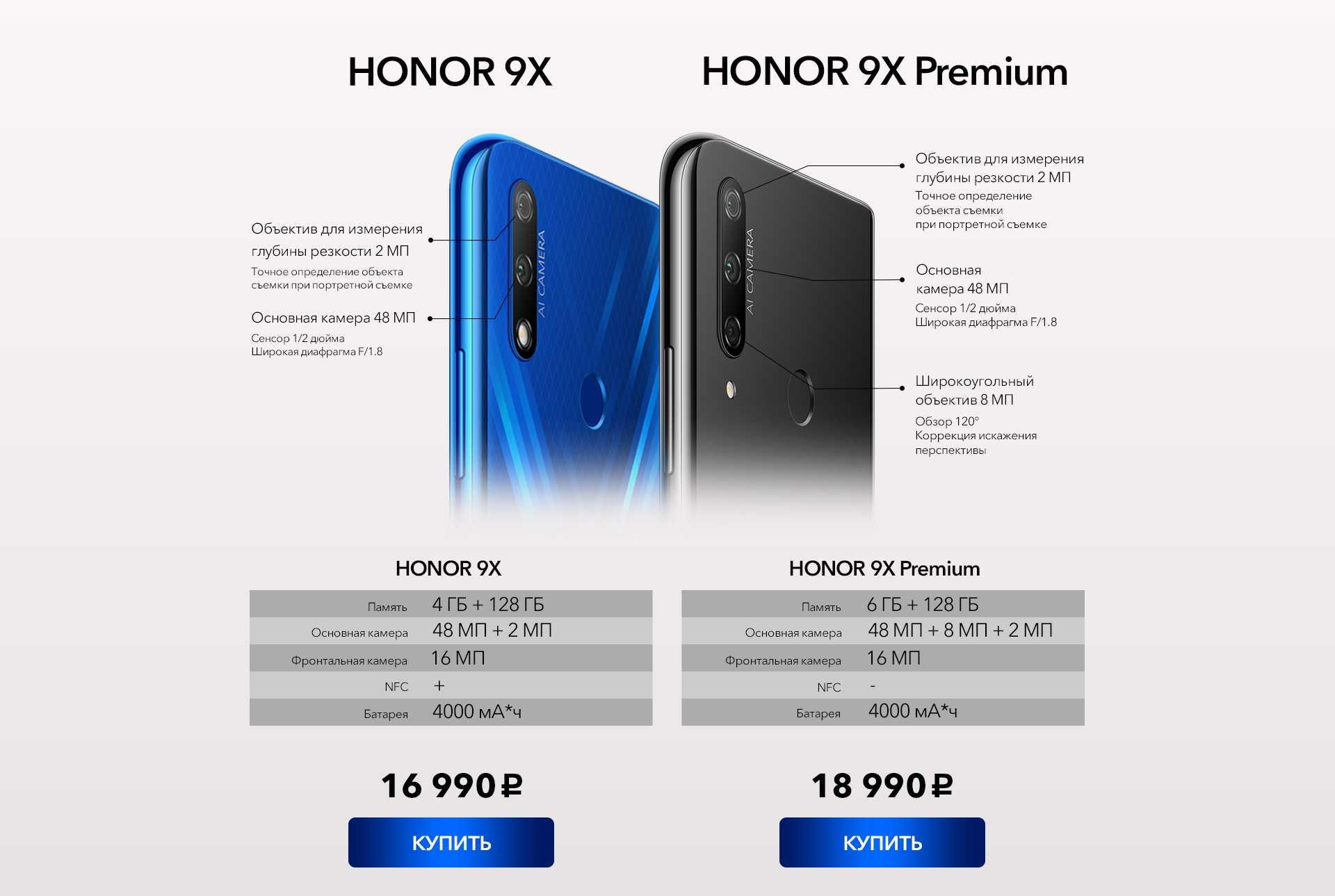 Все подробности о новых, официально представленных honor 9x и honor 9x pro