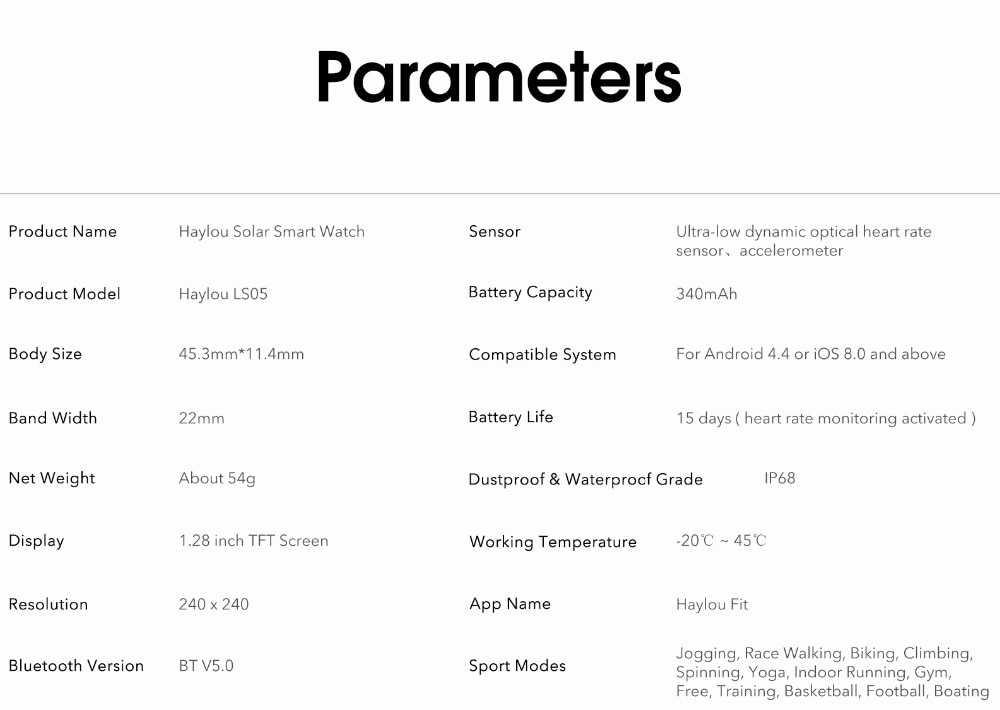 Haylou smart watch solar ls05: обзор, характеристики и функционал