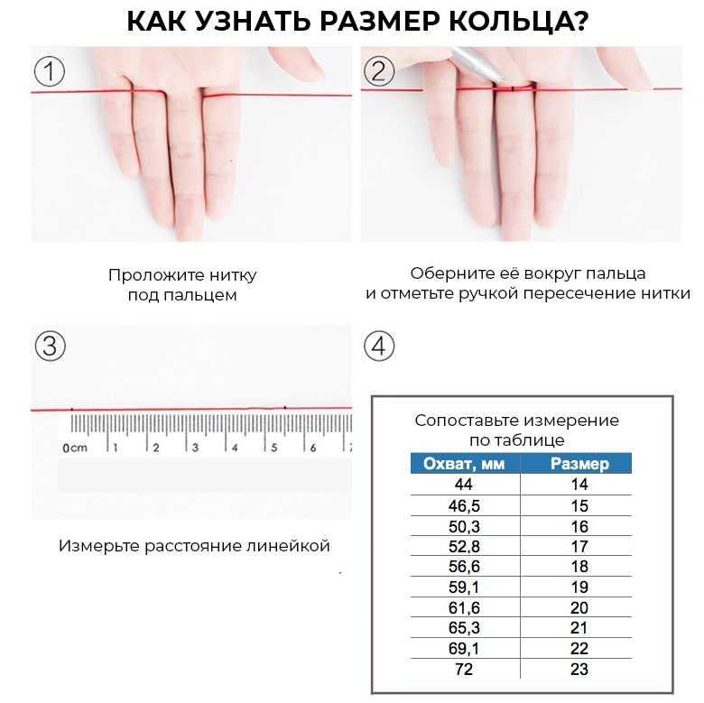Как определить размер кольца — как измерить палец для колечка? таблица диаметров