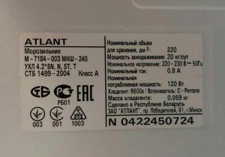 Что такое климатический класс холодильника