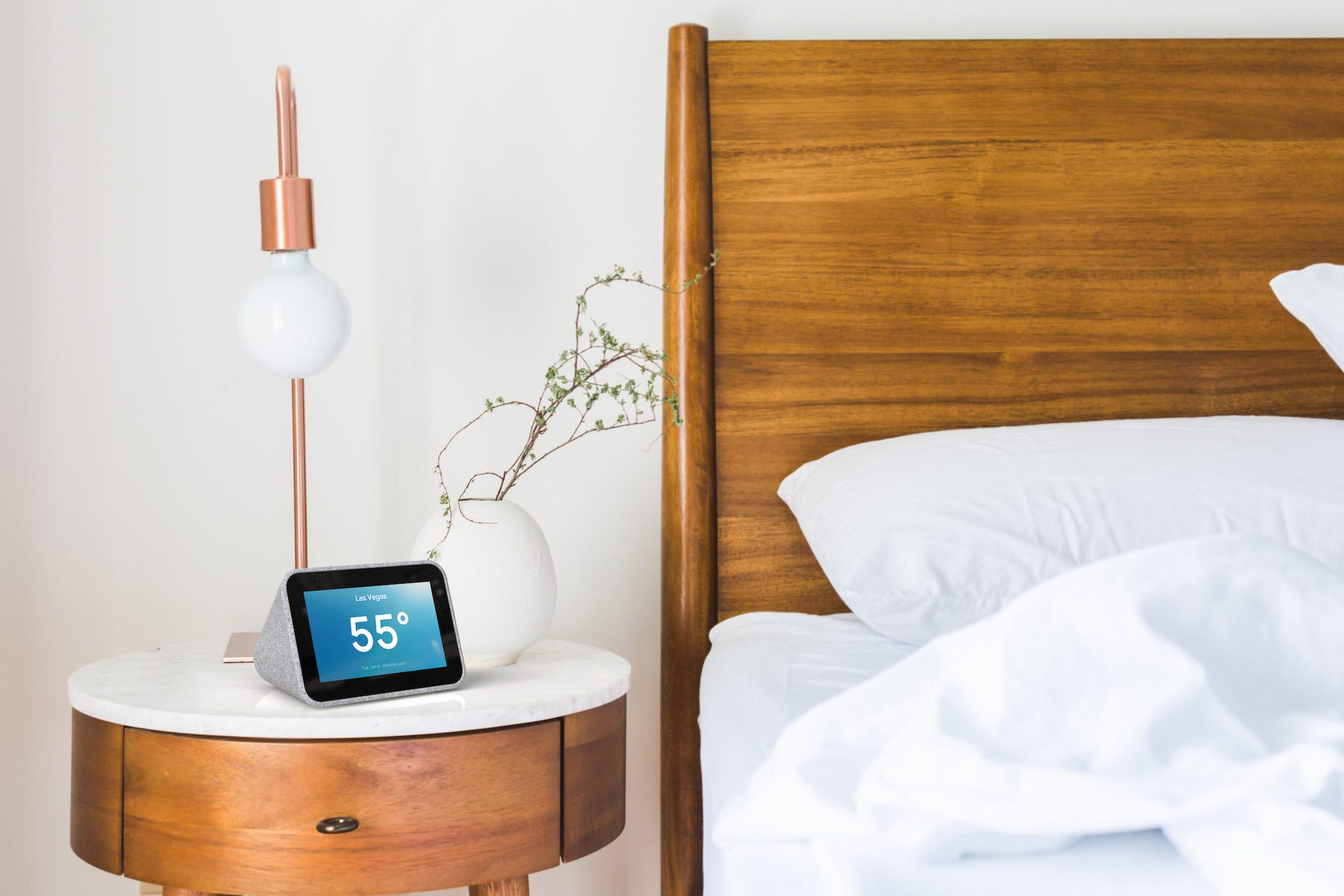 Lenovo smart clock. умные часы с дисплеем
