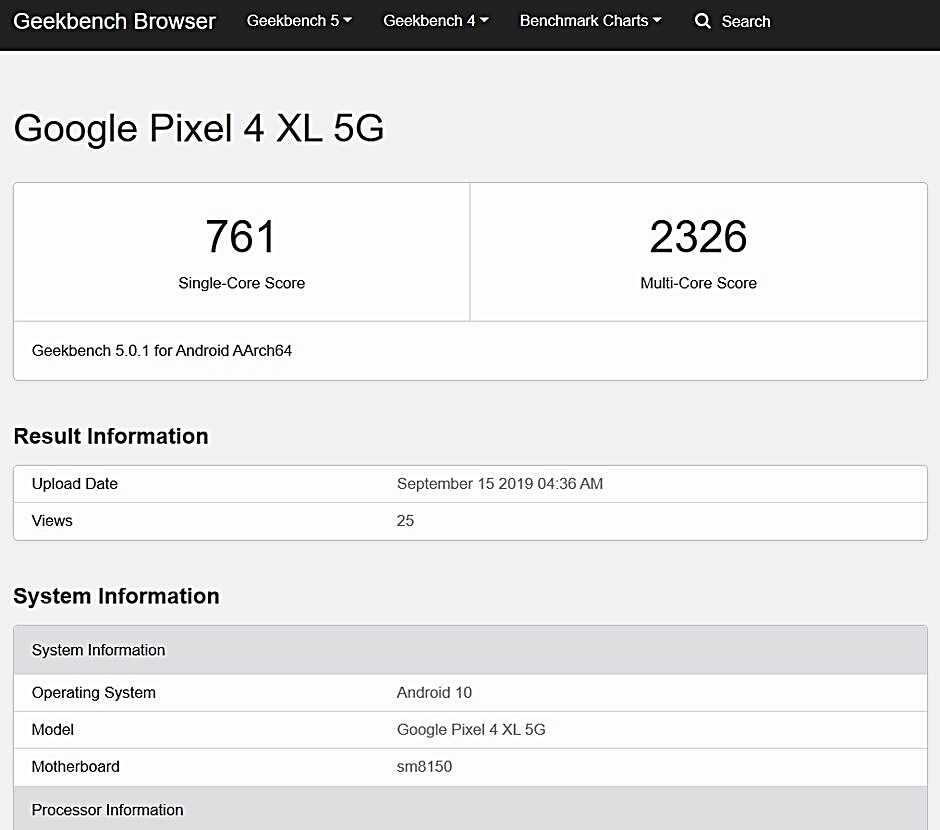 Google Pixel 5 презентация которого еще не состоялась обнаружили в рамках базы данных AI Benchmark Это говорит о том что устройство оценили на предмет
