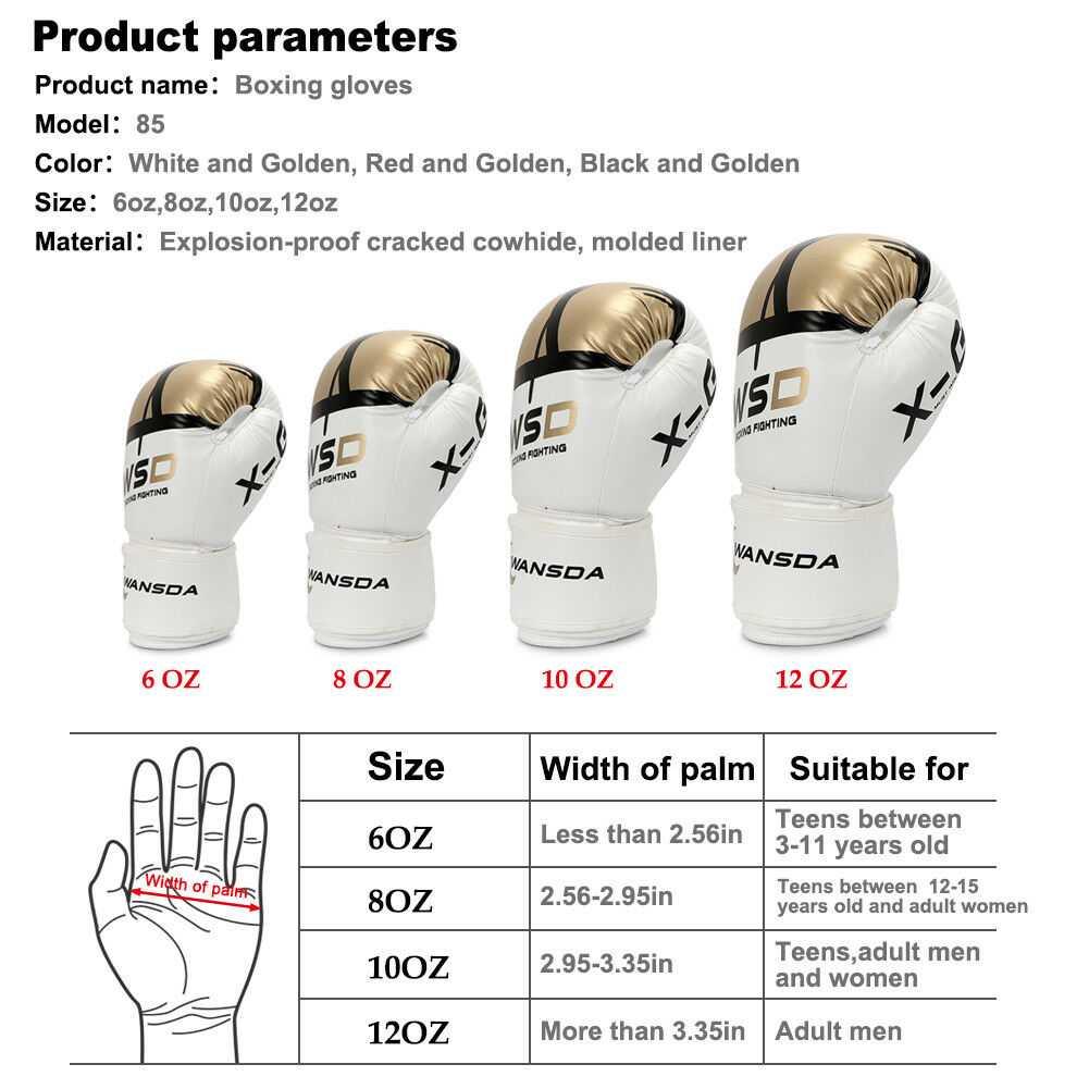 Как выбрать боксерские перчатки для тренировок правильно - какие выбрать, размер, вес