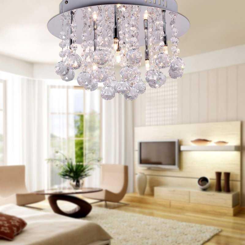 Прочитайте в статье информацию на счет выбора люстры которая подойдет для оформления интерьера в кухне и зале как в квартире так и в доме