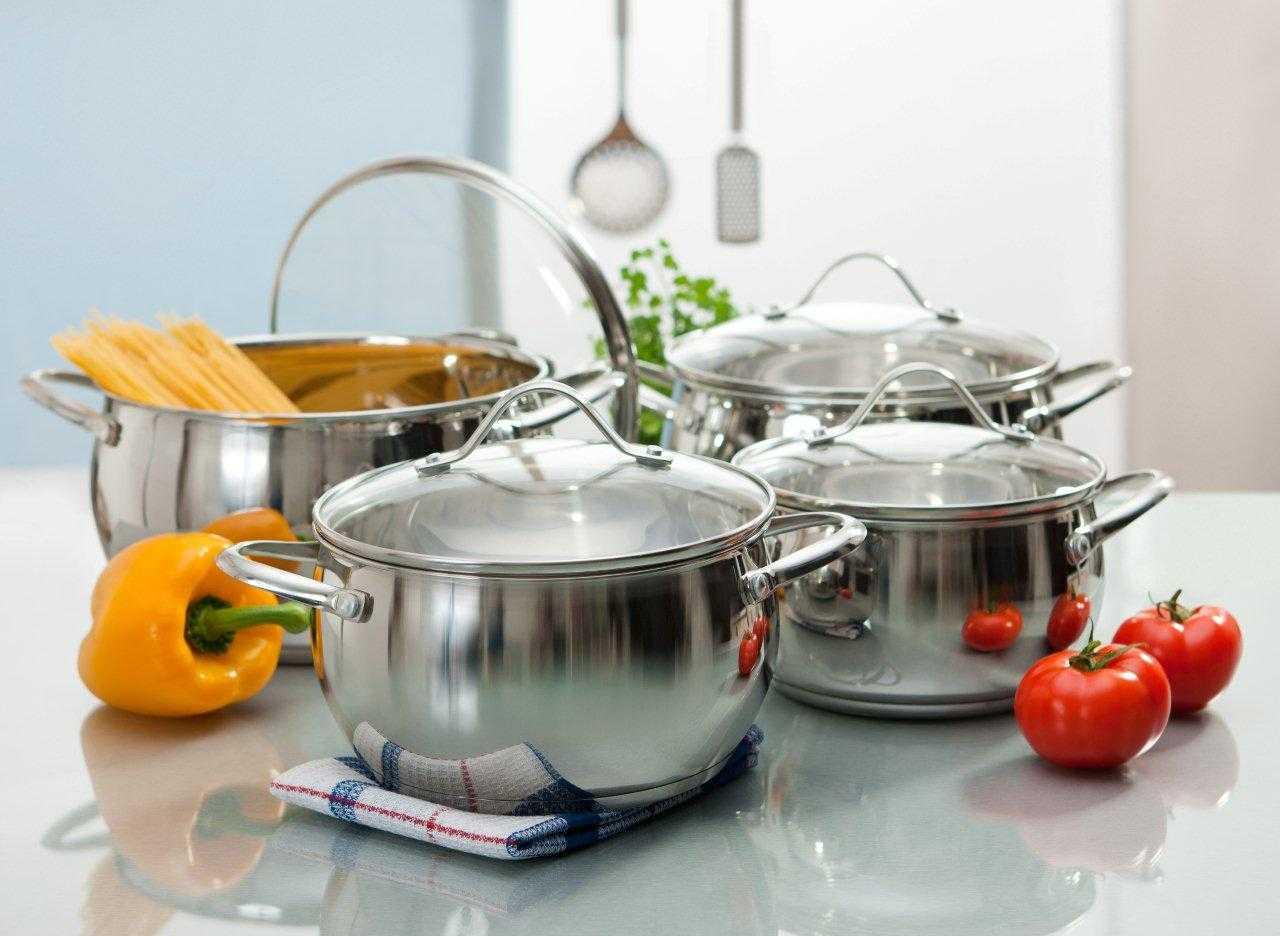 Кастрюли из нержавеющей стали (48 фото): описание посуды из нержавейки. как выбрать набор? отзывы