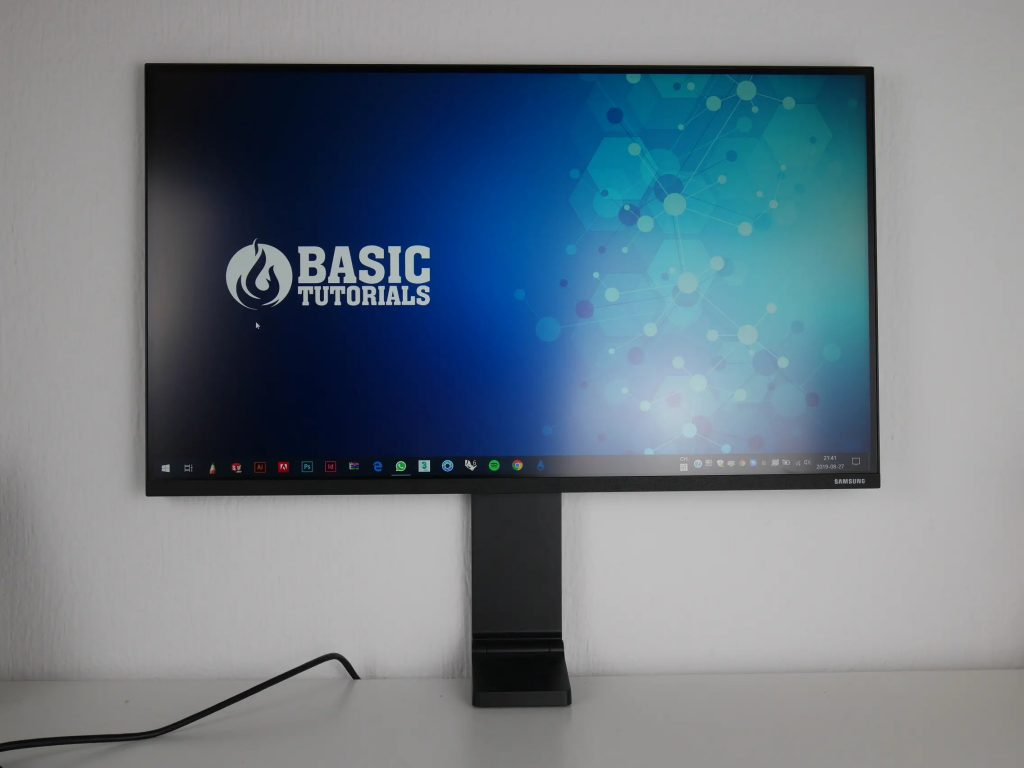 Samsung space sr75              monitor review