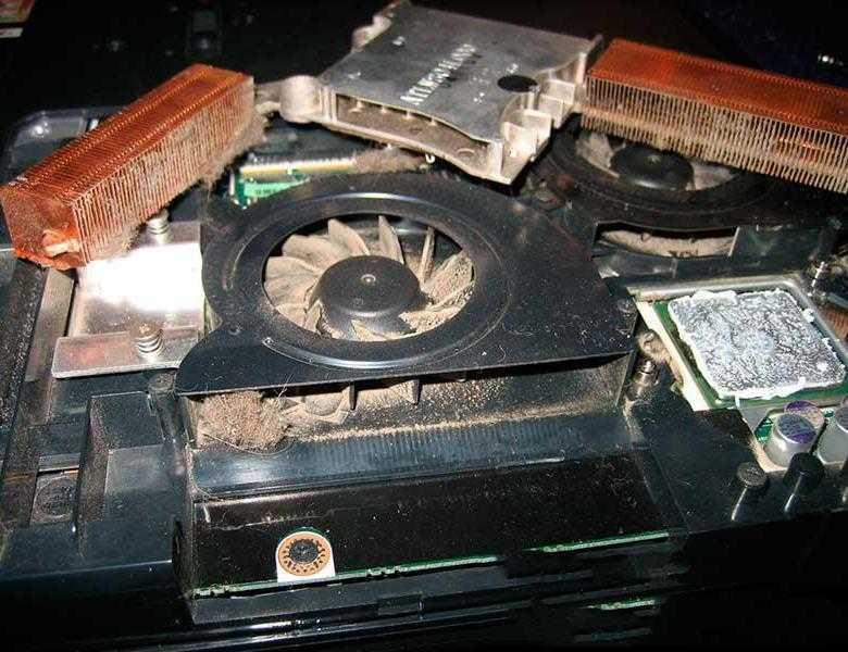 Чистим кулер ноутбука от пыли