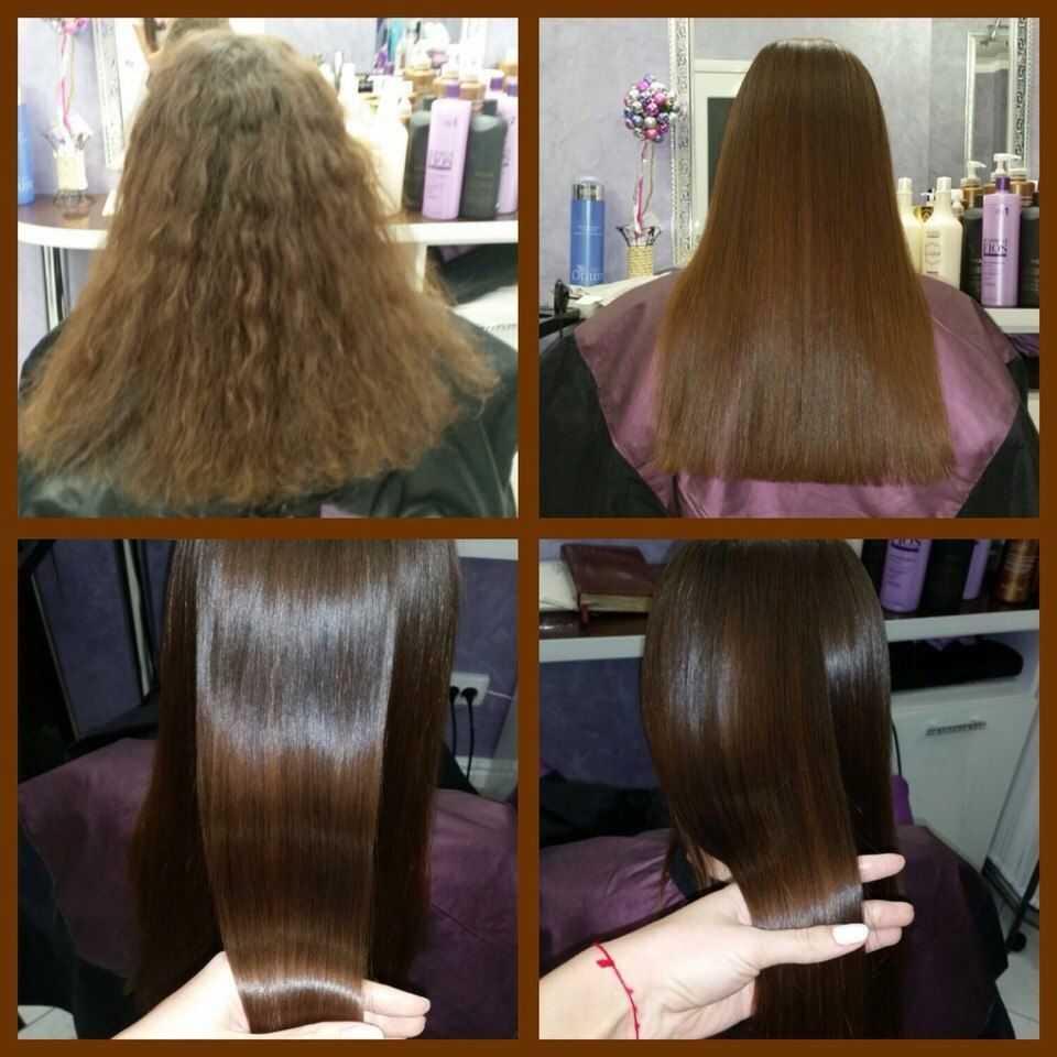 Выпрямление волос в домашних условиях,19фото,народные рецепты,способы выпрямления без утюжка и фена